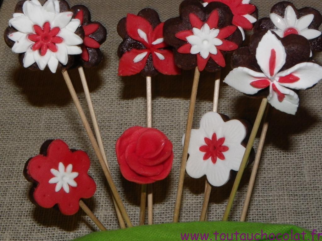bouquet de sablés au chocolat