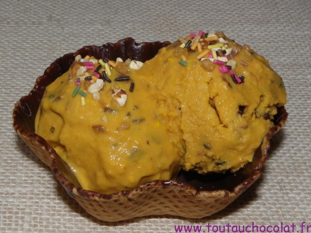 crème glacée à la carotte