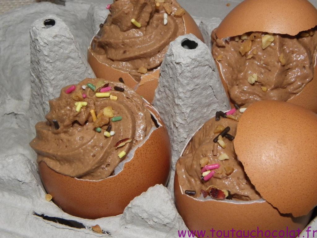 Mousse au chocolat de Pâques