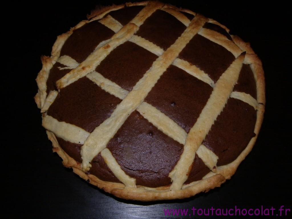 tarte au potimarron et au chocolat noir