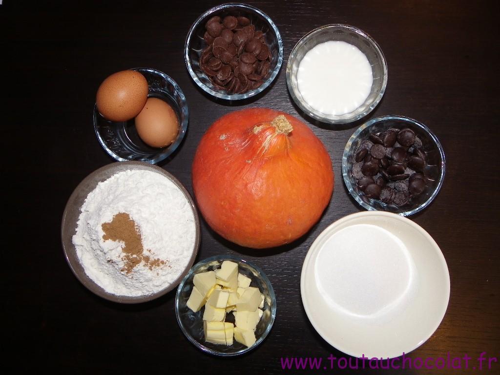 Muffin au potimarron et au chocolat au lait