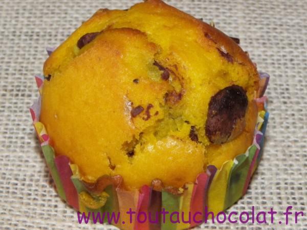 Muffins au potimarron et au chocolat au lait