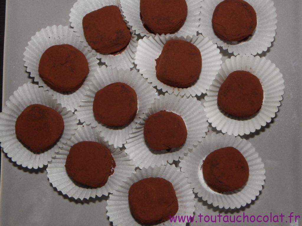 truffes au chocolat au lait