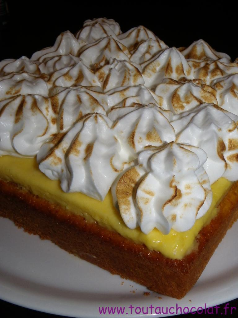 Moelleux au chocolat blanc façon tarte au citron meringuée